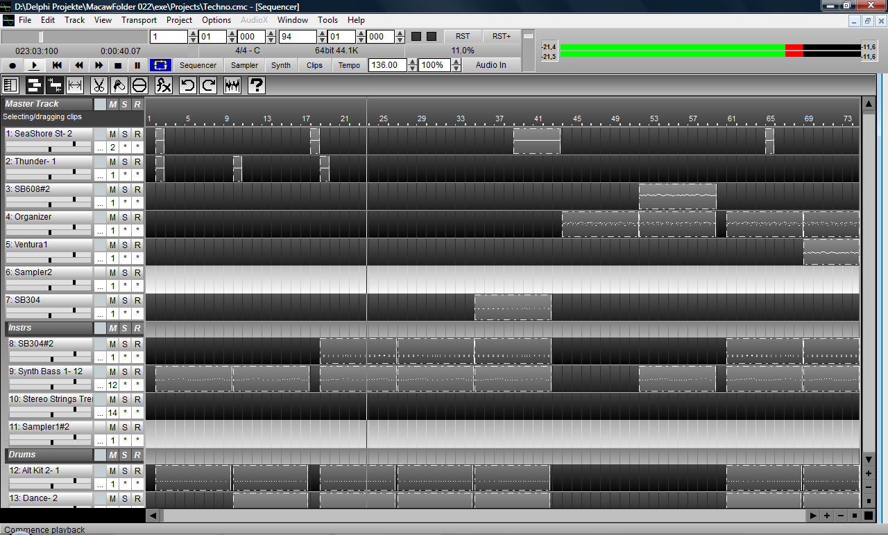 Macaw DAW Portable - Recording + Sequencer Software - Freeware